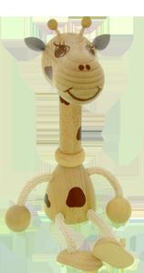 Petit animal en bois Greenkid. Girafe en bois - jouet et décoration pour une chambre d´enfant. Jouets en bois de haute qualité et sécurité de Abafactory.