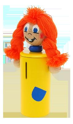 Abafactory - fabricant de jouets en bois - haute qualité et sécurité - fabriqué à la main. Tirelires enfant Greenkid - Pipi.