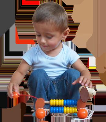 Jouet en bois à tirer Greenkid. Petit chien à roulettes avec boulier pour les filles et les garçons. Abafactory fabricant tchèque de jouets en bois de haute qualité.