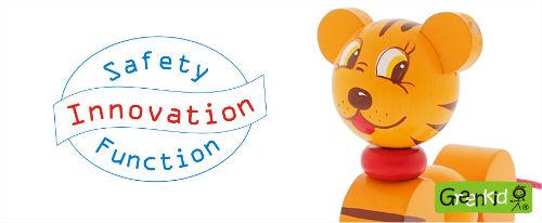 Sécurité-innovation dans la fabrication de jouets en bois tchèques de qualité Greenkid. Fabricant Abafactory.