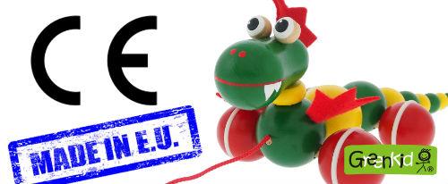 Abafactory - fabricant de jouets en bois de haute qualité. Fabriqué dans l´Union européenne en République tchèque. Jouet en bois à tirer - Petit dragon.