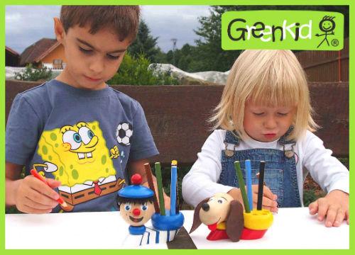 Porte-crayons en bois Greenkid. Jouet et décoration pour enfants à partir de 3 ans - marin et petit chien de Abafactory.
