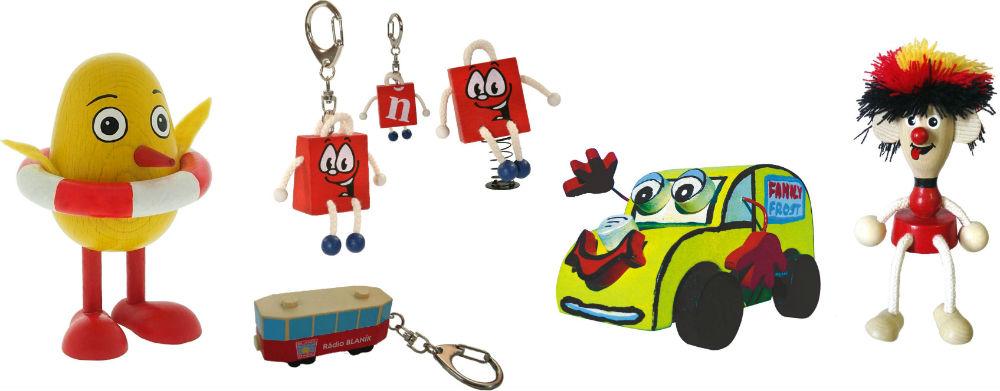 Pendentifs en bois, aimants et objets publicitaires originaux Greenkid. Abafactory - fabrication tchèque de jouets et décorations en bois de haute qualité pour enfants et adultes.